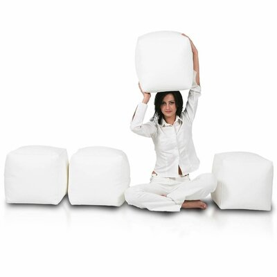 Bean Bag Set (Set of 2) Upholstery: White