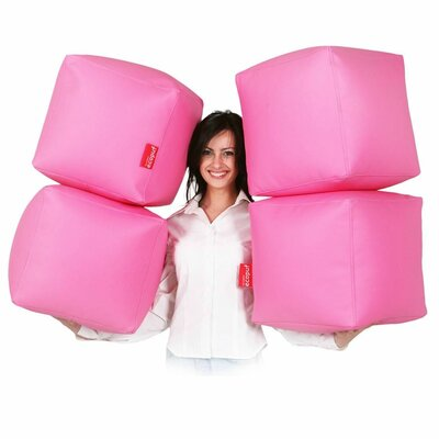 Bean Bag Set Upholstery: Pink