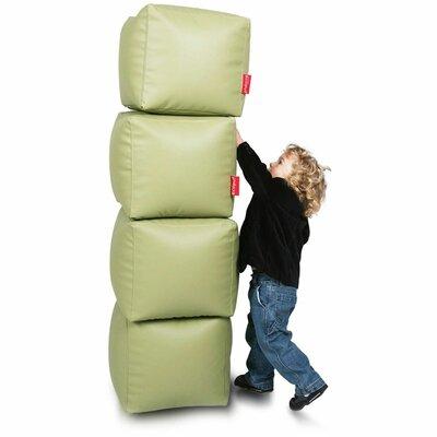 Bean Bag Set (Set of 2) Upholstery: Olive