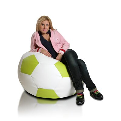 Bean Bag Chair Upholstery: White / Lime