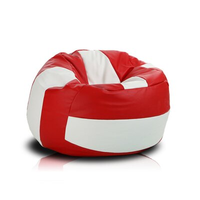 Bean Bag Chair Upholstery: Red / White