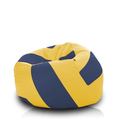 Bean Bag Chair Upholstery: Yellow / Navy
