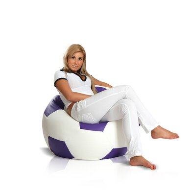 Bean Bag Chair Upholstery: White / Violet