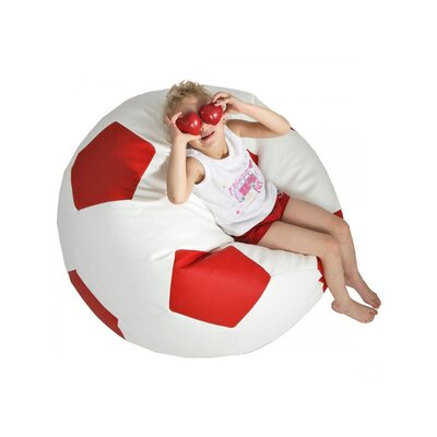 Bean Bag Lounger Upholstery: White / Red