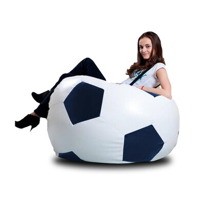 Bean Bag Lounger Upholstery: White / Navy