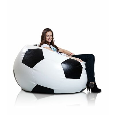 Bean Bag Lounger Upholstery: White / Black