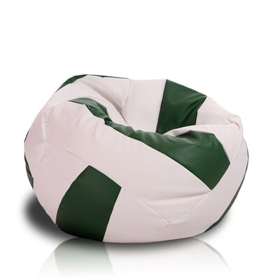 Bean Bag Chair Upholstery: White / Green