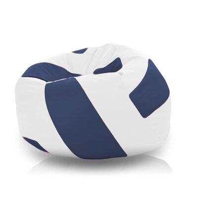 Bean Bag Chair Upholstery: White / Navy