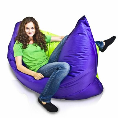 Bean Bag Sofa Upholstery: Violet / Neon Green