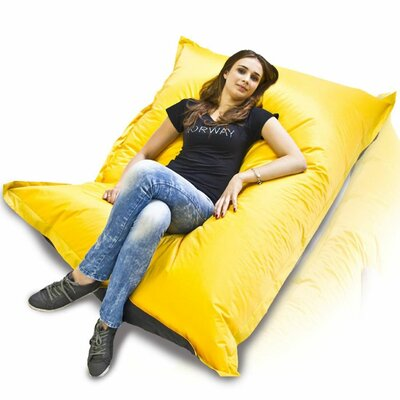 Bean Bag Sofa Upholstery: Yellow / Black