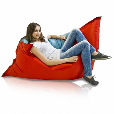 Bean Bag Sofa Upholstery: Sky / Red