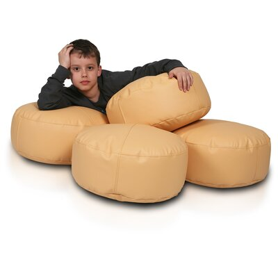 Bean Bag Set (Set of 2) Upholstery: Gold