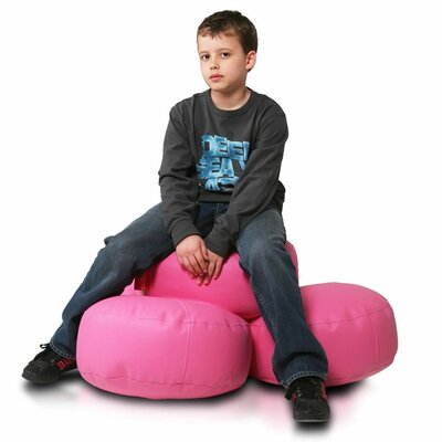 Bean Bag Set (Set of 2) Upholstery: Pink