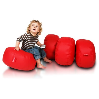 Bean Bag Set Upholstery: Red