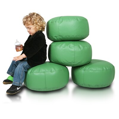 Bean Bag Set (Set of 2) Upholstery: Green