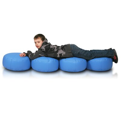 Bean Bag Set (Set of 2) Upholstery: Blue