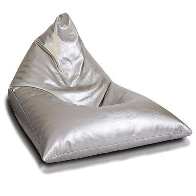 Bean Bag Lounger Upholstery: Silver