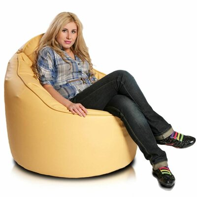 Bean Bag Lounger Upholstery: Gold