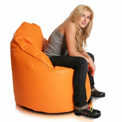 Bean Bag Lounger Upholstery: Orange