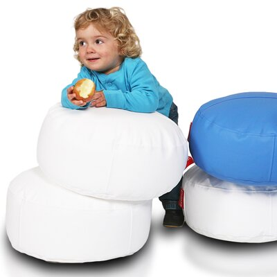 Bean Bag Set Upholstery: White