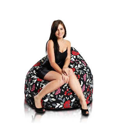 Bean Bag Chair Upholstery: Souvenir Black