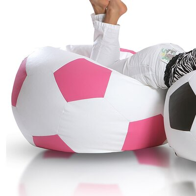 Bean Bag Chair Upholstery: White / Pink