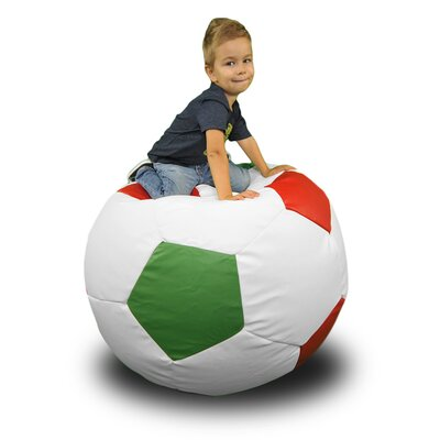 Bean Bag Chair Upholstery: White / Red / Green