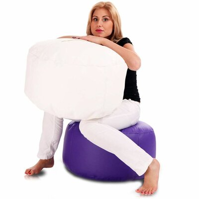 Bean Bag Chair Color: White