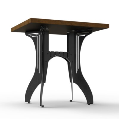 Titus Bistro Table Base Finish: Raw Steel, Top Finish: Maple