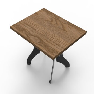 Titus Bistro Table Base Finish: Raw Steel, Top Finish: Birch