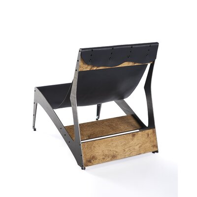 City Lounger Chair Finish: Raw Steel