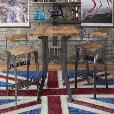 Pekota Bar Stool Base Finish: Raw Steel