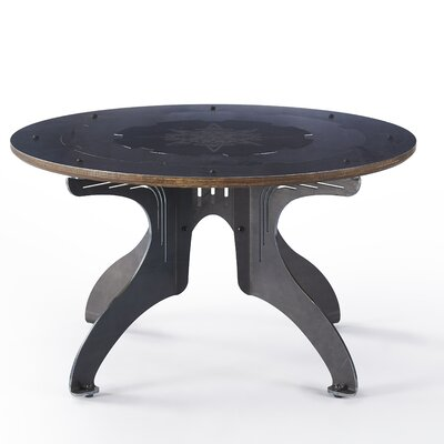 Titus Estrella Coffee Table Base Color: Raw Steel