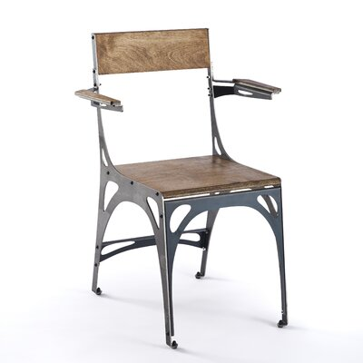 Mark Arm Chair Finish: Raw Steel