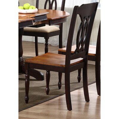 Transitional Solid Wood Dining Chair Finish: Whiskey / Mocha