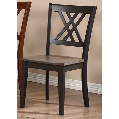Solid Wood Dining Chair Finish: Grey Stone / Black Stone