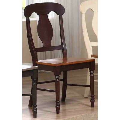 Napoleon Solid Wood Dining Chair Finish: Whiskey / Mocha