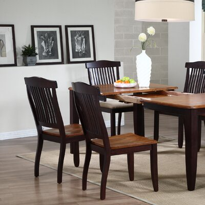 Open Solid Wood Dining Chair Finish: Whiskey / Mocha