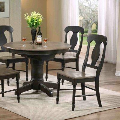 Napoleon Side Chair Finish: Grey Stone / Black Stone