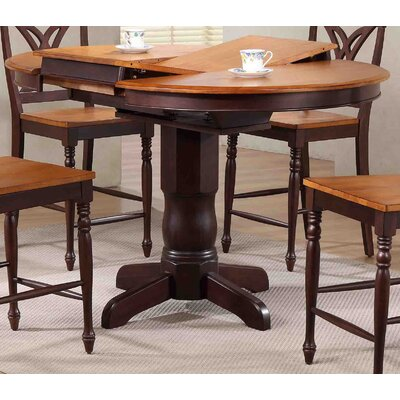 Round Counter Height Pub Table Finish: Whiskey/Mocha