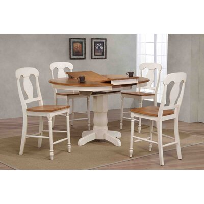 Napoleon Counter Height 5 Piece Pub Table Set Finish: Caramel/Biscotti