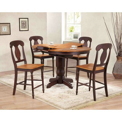 Napoleon Counter Height 5 Piece Pub Table Set Color: Whiskey/Mocha