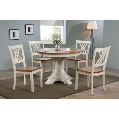 Deco 5 Piece Dining Set Finish: Caramel/Biscotti