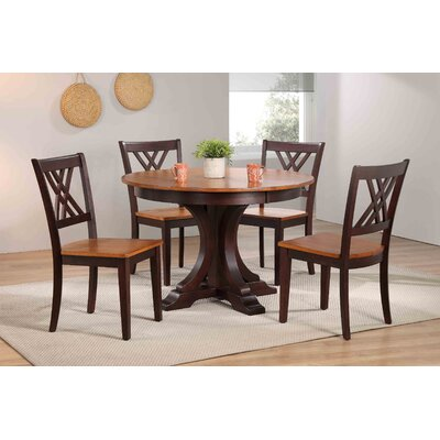 Deco 5 Piece Dining Set Finish: Whiskey/ Mocha