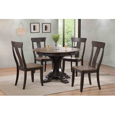 Deco 5 Piece Dining Set Finish: Grey Stone/ Black Stone