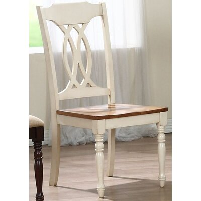 Transitional Solid Wood Dining Chair Finish: Caramel / Biscotti
