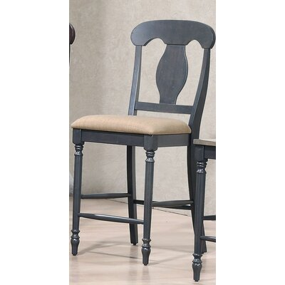 24 Bar Stool Finish: Black Stone