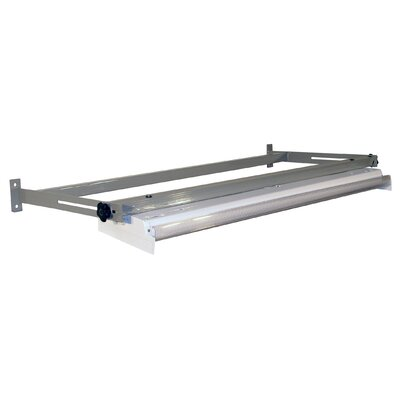Overhead Light Frame Size: 3.5 H x 72 W x 24 D, Finish: Gray