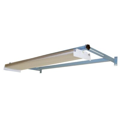 Overhead Light Frame Size: 3.5 H x 72 W x 24 D, Finish: Beige