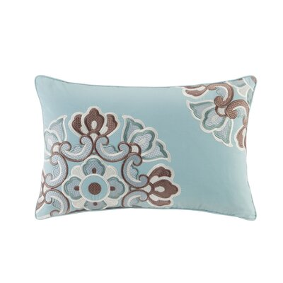 Fretwork Cotton Lumbar Pillow